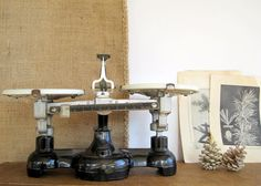 Your place to buy and sell all things handmade Vintage Scales, Bottles And Jars, Antiquities, Kitchen Countertops, Herbal Remedies, White Porcelain, Apothecary, Milk Glass, Cast Iron