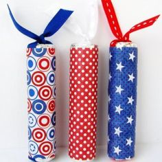 """Fourth of July """"Firecrackers"""" made from Life Savers."""