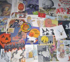 Vintage Halloween Ephemera Pack for Altered Art Lot H on Etsy, $7.95