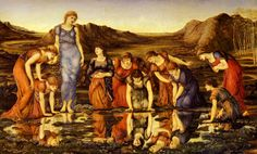 The Mirror of Venus, 1898, Burnes-Jones