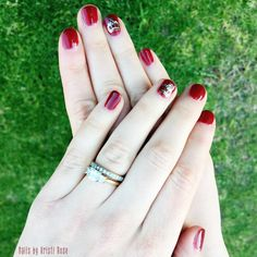 Red Stiletto and HRH Nail Bling #gelmoment