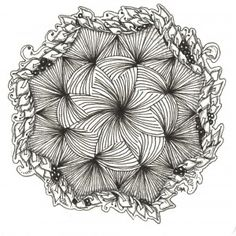 Zendala by Grace Mendez, Certified Zentangle Teacher