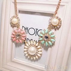 Cheap necklace bead, Buy Quality necklace mother of pearl directly from China necklace cam Suppliers:  Hot New Fashion Charm Color Resin Rhinestone Flower Shape Collar Bib Necklace                Item Main Descri