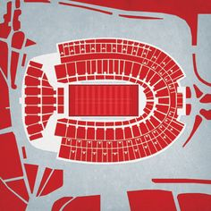They have hundreds of these prints. Sports, Cities, etc. Ohio Stadium | City Prints Map Art