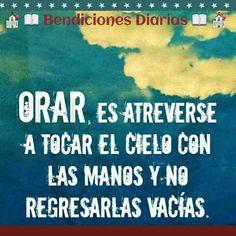 Orar sin cesar.  Bendiciones Diarias. www.facebook.com