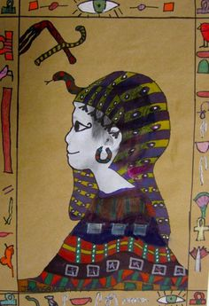 Use cardboard and paint. Include names in hieroglyphics around the border. Art Lessons For Kids, Art Lessons Elementary, 6th Grade Art, Third Grade, Ancient Egypt Lessons, Egypt Art, Ecole Art, Ancient Egyptian Art, Art Studies