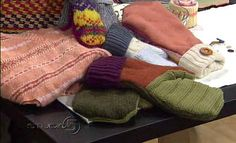 pattern and tutorial for wool mittens from old wool sweaters