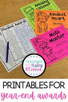 Read now on the blog...I would love if we occasionally set time aside to publicly praise EVERY student…in front of their class and class parents. I created a list of awards with my teacher friends. I wanted to make sure there were enough and that you could find something for every student. As I created this list, I thought about what we want to encourage in our students. What skills and traits will help them be successful in their future? | Resources for Teachers | Year End Awards |