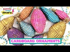 Mark Montano: Corrugated Cardboard Ornaments DIY // This will also make a super gift topper -- Office Christmas, Christmas Crafts, Christmas Ornaments, Cardboard Crafts, Paper Crafts, Diy Crafts, Paper Ornaments, Christmas Crackers, Recycled Crafts