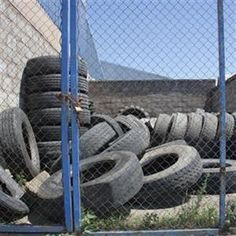 Tyre levy is in Water Retention, Rural Area, Rubber Tires, Garden Hose, Welsh, Outdoor, Outdoors, Welsh Language, Wales