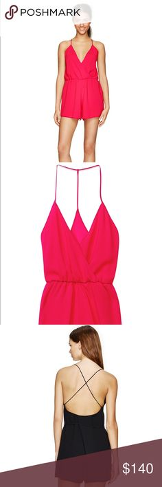 Wilfred brand new with tags romper!! So cute Brand new never been worn red wilfred aritzia red romper purchased for $145.00 Aritzia Other