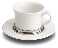 Tazza tè con piatto. Collezione: Convidio. Cosi Tabellini.