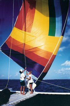 Round the Island race on 60f. catamaran 'Cockatoo'