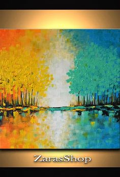 Buy original art, abstract wall art, abstract tree paintings, landscape paintings, business gifts, abstract art paintings, home decor, impasto painting