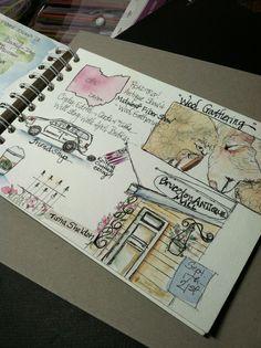 Tisha Sheldon's travel journal. Road trip with friends.