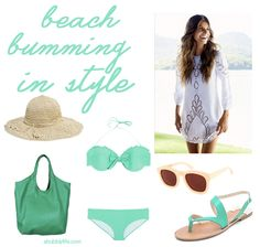 A Bubbly Life: Beach Bumming In Style...LOVE this cute blog and her style :)