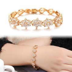 Elegant Roman ircon Bracelets K Gold Plated Hand-Made Trinkets KS