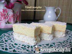 Raffaello szelet | Receptkirály.hu Dessert Drinks, Dessert Recipes, Izu, Vanilla Cake, Cooking, Foods, Hungarian Recipes, Kitchen, Food Food