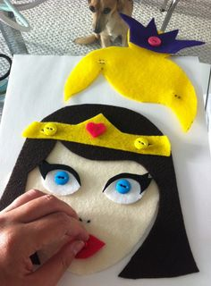 Button the princess- change out hair, accessories lips! WISH I knew how to sew buttons to make this! I LOVE this idea!
