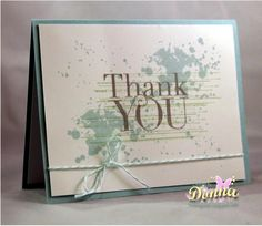 Grunge Thank You by didlet - Cards and Paper Crafts at Splitcoaststampers