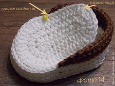 Предлагаю вам мастер-класс по вязанию кед для игрушки. При вязании указанными материалами и инструментами , кеды должны получиться с такими размерами: 7см*4см*2.5см Для вязания вам потребуется: - пряжа Coco «Vita cotton» двух цветов (100% мерс.хлопок , 240м/50г), вязать в 2 сложения- крючок 2.5мм- белый картон- белая ткань хлопок- клей (супер-клей) Условные обозначения:п - петлявп - воздушная…
