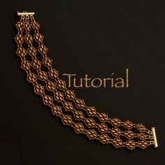 SuperDuo Beadwoven Bracelet Tutorial Sensuous by JewelryTales, $5.00