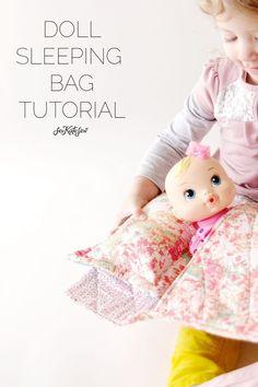Easy Doll Sleeping Bag Tutorial | see kate sew | Bloglovin'