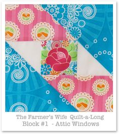 Farmer's Wife Quilt-a-Long - Block 1 by Happy Zombie, via Flickr
