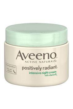 Aveeno Positively Radiant Intensive Night Cream, $15, aveeno.com.   - HarpersBAZAAR.com