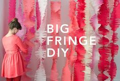 Be Different...Act Normal: Giant Fringe Garlands [DIY Party Decorations]
