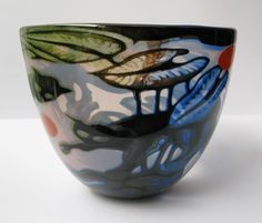 "Swedish Art Glass:  Bowl ""Panterskål"" by Orrefors 1982.  Designer:  Eva Englund"