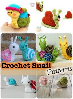 Crochet Snail with Patterns