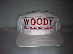 Vtg Ohio State University Woody Snapback hat cap 90s THE GAME bar NCAA College #THEGAME #BallCap