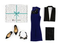 KISURA box // chic outfit dress fashion style