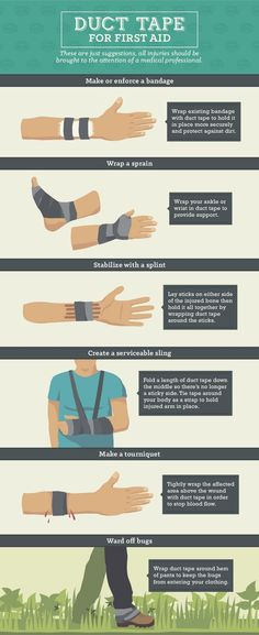 Stuck on Survival: 25 Uses for Duct Tape Duct Tape Guide – Using Duct Tape for First Aid Survival Life, Wilderness Survival, Survival Prepping, Survival Skills, Survival Hacks, Survival Quotes, Survival Supplies, Emergency Preparation, Urban Survival