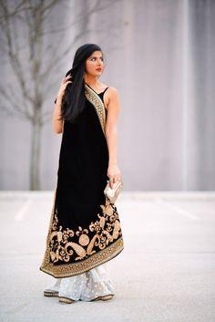 Black Velvet saree