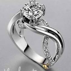 wedding engraved product rings trinity knot ring band