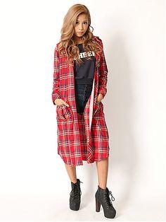 チェック柄のロングジャケットでアレンジ自由!お姉ギャル系タイプのコーデ♡参考にしたいスタイル・ファッション