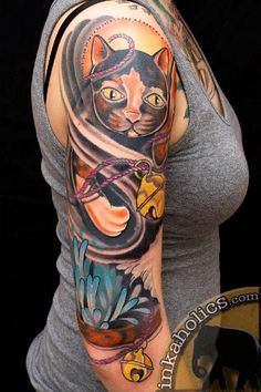 1, cat,grim reaper,inkaholics tattoo, brian foster, traditional portrait, rose, moreno valley, ca, riverside, rogue elephant.jpg (362×544)