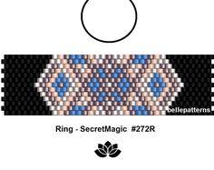 peyote ring pattern,PDF-Download, #272R, beading pattern, beading tutorials, ring pattern