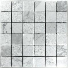 kalkstein stein mosaik fliesen weiss 48x48x8mm - Schwarzweimosaikfliese Backsplash