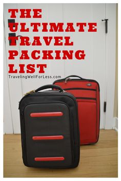 Never forget anything the next time you go on vacation with the Ultimate Travel Packing List from TravelingWellForLess.com