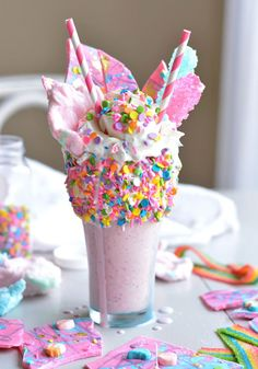 DIY food : faire un milk shake licorne    DIY food: a milk shake unicorn