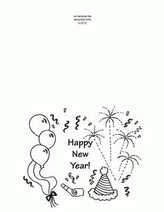 Printable New Years Greeting Card Template
