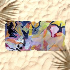 "Display your taste in fine art at the beach this summer with this new towel featuring artist Susan C. Price's painting ""Alverno"" - available now from the Form Function Style store at Society 6!-#artist #painter #susancprice @scprice48 @society6 #society6 #beach #towel #summer #fineart #painting #formfunctionstylela @formfunctionstylela"