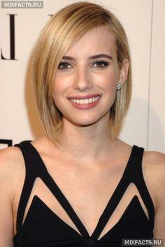 Короткие стрижки для женщин: удлиненный боб на прямые волосы