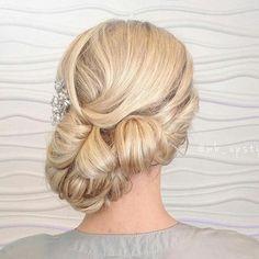 formal blonde side updo