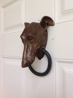 Greyhound Doorknocker by Dogknockers on Etsy https://www.etsy.com/listing/271369545/greyhound-doorknocker