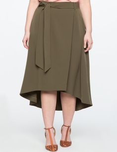 High Low Faux Wrap Skirt from eloquii.com
