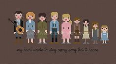 the sound of music (cross stitch pattern) | wee little stitches